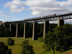 Scotrail Class 158-170 DMU on Tomatin Viaduct